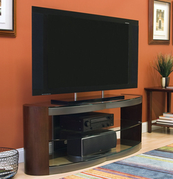 """Tv Stand – Ohm 60"""" Tv Stand W/ Glass Shelves From Slam Regarding 2018 Glass Shelves Tv Stands For Tvs Up To 60"""" (View 7 of 10)"""