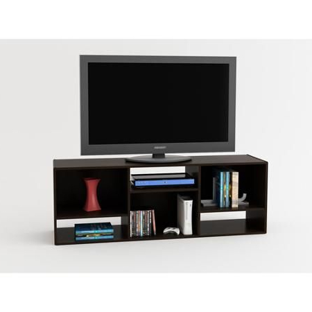 """Tv Stand Or Shelving Unit For Tvs Up To 55"""", Espresso Pertaining To Trendy Hal Tv Stands For Tvs Up To 60"""" (View 1 of 10)"""
