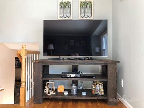 Tv Stand, Small Entertainment Center, Rustic Primitive Intended For Preferred Lancaster Corner Tv Stands (View 6 of 10)