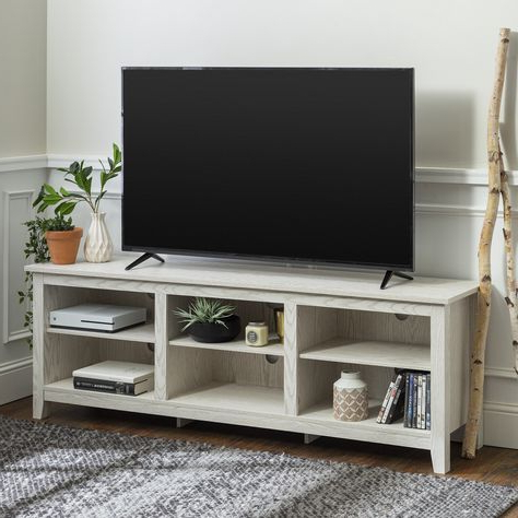 Tv Stand Wood, Storage Stand Throughout Widely Used Woven Paths Open Storage Tv Stands With Multiple Finishes (View 10 of 10)