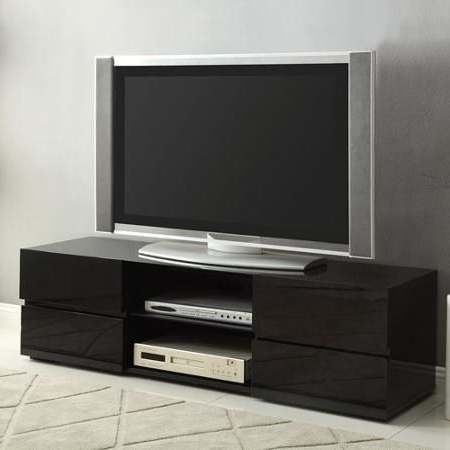 Tv Stand,glossy Blk,55.2;5wx15.75dx (View 6 of 10)