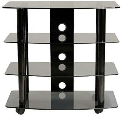 Tv Stands Fwith Tv Mount Silver/black Regarding Well Known Amazon: Transdeco Td550hb Tv Stand With Mount,  (View 10 of 10)