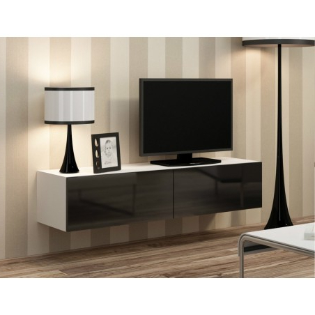Tv Stands With 2 Open Shelves 2 Drawers High Gloss Tv Unis Regarding Widely Used Bmf Vigo Tv Stand Floating Wall Mountable Unit High Gloss (View 2 of 10)