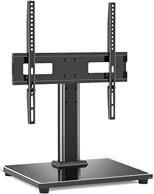 Tv Stands With Cable Management Throughout Well Liked Amazon: Tavr Black Tempered Glass Corner Tv Stand (View 3 of 10)