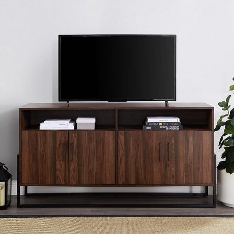 Tv Stands With Led Lights In Multiple Finishes With Regard To Most Recently Released Manor Park Modern Industrial Tv Stand For Tv's Up To  (View 10 of 10)