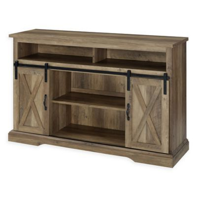 Tv Stands With Sliding Barn Door Console In Rustic Oak For Well Liked Forest Gate Englewood Barn Door Tv Stand In Rustic Oak (View 1 of 10)