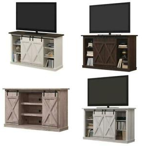 Twin Star Home Terryville Barn Door Tv Stand For Tvs Up To With Regard To Recent Robinson Rustic Farmhouse Sliding Barn Door Corner Tv Stands (View 6 of 10)