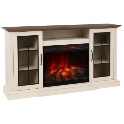 Twin Star Home Terryville Barn Door Tv Stands For Most Recently Released White – Electric Fireplaces – Fireplaces – The Home Depot (View 3 of 10)