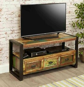 Urban Chic Reclaimed Wood Indian Furniture Television For Well Known Urban Rustic Tv Stands (View 3 of 10)