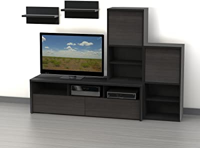 """Vasari Corner Flat Panel Tv Stands For Tvs Up To 48"""" Black Pertaining To 2017 Amazon: Ikea Expedit Entertainment Center Tv Stand Up (View 8 of 10)"""