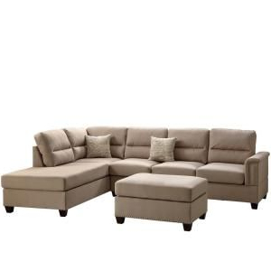 Venetian Worldwide Naples 3 Piece Sand Sectional Sofa With Intended For Most Recent 3pc Polyfiber Sectional Sofas (View 2 of 10)