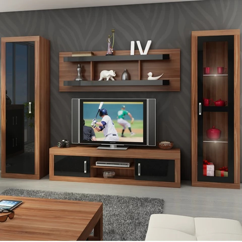 Verin 4 Piece Tv Set, Multiple Finishes #luxuryfurniure # With Regard To Widely Used Mainstays Tv Stands For Tvs With Multiple Colors (View 9 of 10)