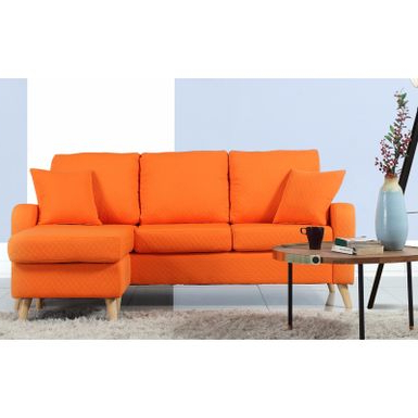 Verona Mid Century Reversible Sectional Sofas Regarding Latest Rent To Own Mid Century Modern Small Space Sectional Sofa (View 2 of 10)
