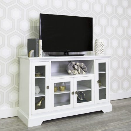 Walker Edison Contemporary Tall Tv Stands For Most Recent Walker Edison Highboy Style Wood Media Storage Tv Stand (View 3 of 10)