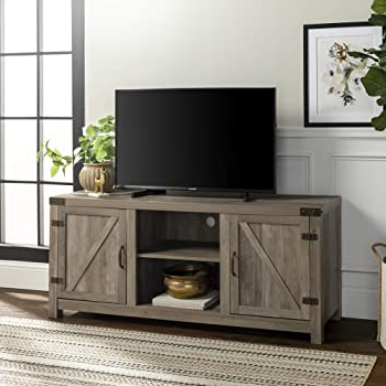 Walker Edison Farmhouse Tv Stands With Storage Cabinet Doors And Shelves With Recent Amazon: Walker Edison Furniture Company Farmhouse Barn (View 1 of 10)