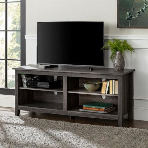 Walker Edison Furniture Company Essential Charcoal Storage With Latest Urban Rustic Tv Stands (View 1 of 10)