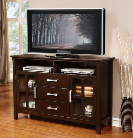Waterloo 53 Inches Wide X 35 Inches High Tall Tv Stand In Throughout Well Known Carbon Wide Tv Stands (View 1 of 10)