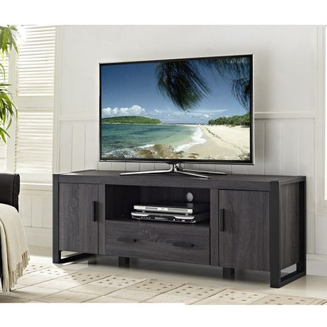 """We Furniture 60"""" Grey Wood Tv Stand Console (View 8 of 10)"""