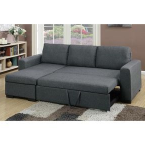 Well Known 2 Pcs Sectional Pull Out Bed W/storage (View 1 of 10)