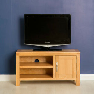 Well Known Abbey Light Oak Small Tv Stand Unit 90cm Modern Television Within Manhattan Compact Tv Unit Stands (View 1 of 10)