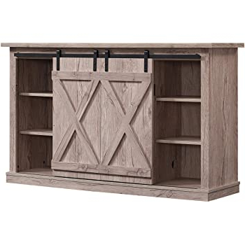 """Well Known Amazon: Better Homes And Gardens Modern Farmhouse Tv For Jaxpety 58"""" Farmhouse Sliding Barn Door Tv Stands In Rustic Gray (View 2 of 10)"""