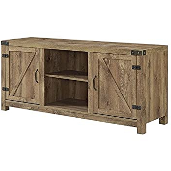 """Well Known Amazon: Better Homes And Gardens Modern Farmhouse Tv Regarding Jaxpety 58"""" Farmhouse Sliding Barn Door Tv Stands In Rustic Gray (View 6 of 10)"""