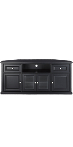 """Well Known Amazon: Crosley Furniture Alexandria 48 Inch Corner Tv Intended For Vasari Corner Flat Panel Tv Stands For Tvs Up To 48"""" Black (View 10 of 10)"""