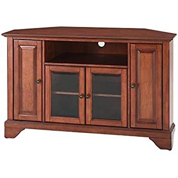 Well Known Bella Tv Stands Regarding Amazon: Crosley Furniture Lafayette 48 Inch Corner Tv (View 2 of 10)