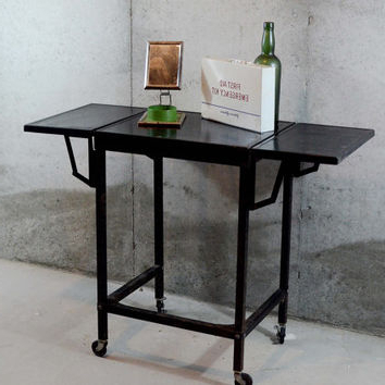 Well Known Best Metal Rolling Cart Products On Wanelo Regarding Modern Black Tv Stands On Wheels With Metal Cart (View 4 of 10)