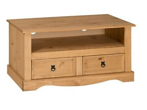 Well Known Corona Tv Unit Flat Screen Wide Stand 2 Drawer Solid Pine Inside Corona Tv Stands (View 2 of 10)