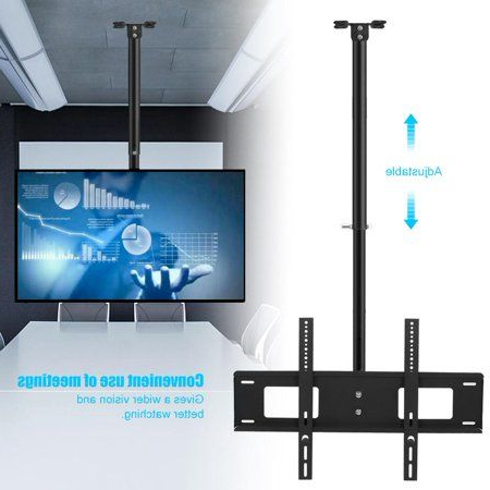 """Well Known Greensen Swivel 32 63in Ceiling Tv Mount Bracket Vertical Throughout Tv Stands With Cable Management For Tvs Up To 55"""" (View 8 of 10)"""