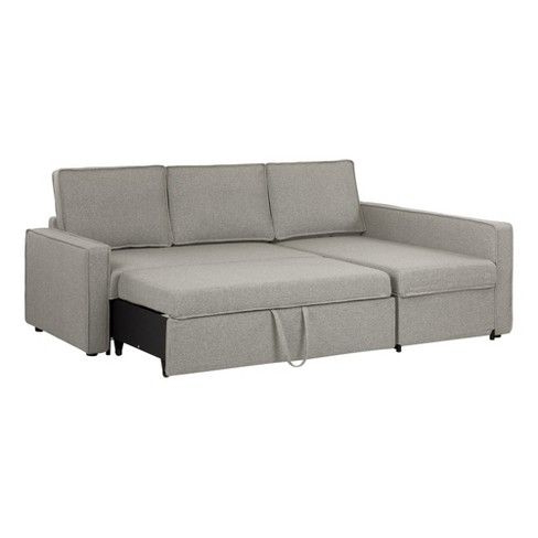 Well Known Live It Cozy Sectional Sofa Bed With Storage – South Shore With Celine Sectional Futon Sofas With Storage Reclining Couch (View 3 of 10)