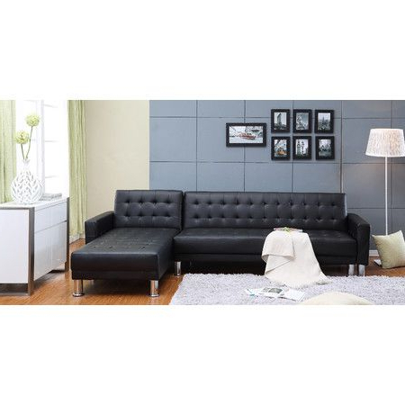 Well Known Marsden Sectional Sleeper Sofa In Black (View 6 of 10)