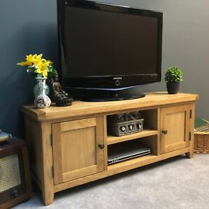 Well Known Oliver Wide Tv Stands In Large Oak Tv Stand Wide Solid Wood Television Unit With (View 5 of 10)