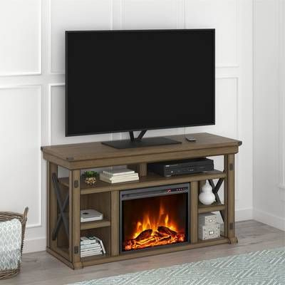 """Well Known Sahika Tv Stands For Tvs Up To 55"""" Pertaining To Wyatt Tv Stand For Tvs Up To 50"""" With Fireplace Included (View 3 of 10)"""