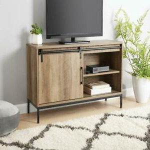 """Well Known Tv Stand, For Tvs Up To 54"""", Rustic Weathered Oak Finish With Mainstays 3 Door Tv Stands Console In Multiple Colors (View 10 of 10)"""
