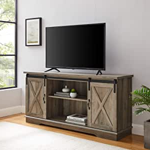 Well Known Walker Edison Richmond Modern Farmhouse Sliding Barn Door Pertaining To Walker Edison Contemporary Tall Tv Stands (View 4 of 10)