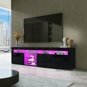 Well Known Zimtown Tv Stands With High Gloss Led Lights With Regard To 180cm Rgb Led Light Tv Stand Cabinet Entertainment Unit (View 9 of 10)