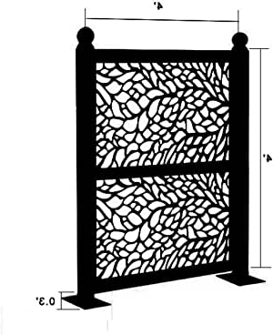 Well Liked Amazon : Decorative Laser Cut Privacy Metal Screen Regarding Hanna Oyster Wide Tv Stands (View 4 of 10)