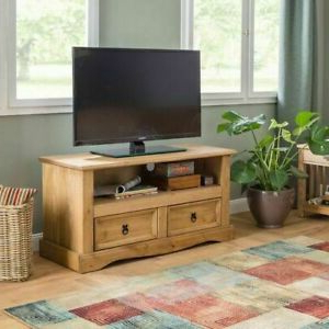 Well Liked Carbon Tv Unit Stands Inside Antique Style Tv Stand 2 Drawers Media Storage Unit Rustic (View 7 of 10)