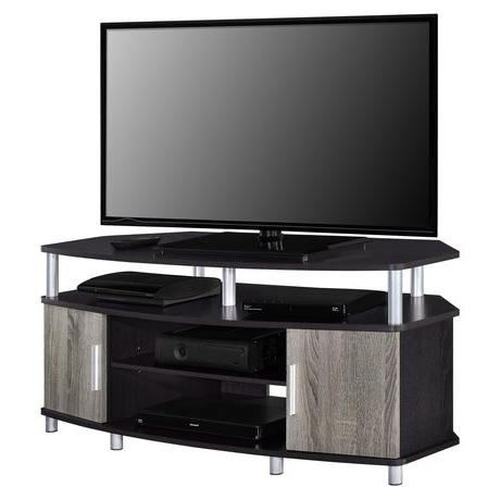 """Well Liked Carson Tv Stands In Black And Cherry Regarding Carson Corner Tv Stand For Tvs Up To 50"""", Black/cherry (View 1 of 10)"""