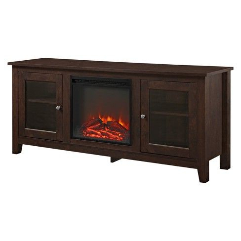 """Well Liked Cozy Glass Door Fireplace Tv Stand For Tvs Up To 65 Regarding Jowers Tv Stands For Tvs Up To 65"""" (View 8 of 10)"""