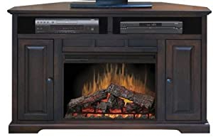 """Well Liked Exhibit Corner Tv Stands With Regard To Amazon – Brentwood 56"""" Corner Tv Stand With Electric (View 7 of 10)"""