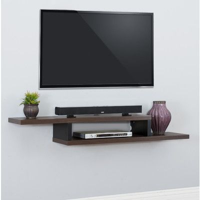Well Liked Floating Tv Shelf Wall Mounted Storage Shelf Modern Tv Stands With Regard To Fireplace With Asymetrical Shelves – Yahoo Canada Image (View 2 of 10)