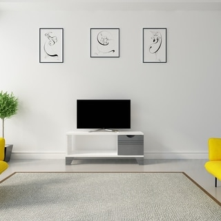 """Well Liked Freya Wide Tv Stands Throughout Shop Tv Stand – 42""""l / White Corner – Free Shipping Today (View 3 of 10)"""