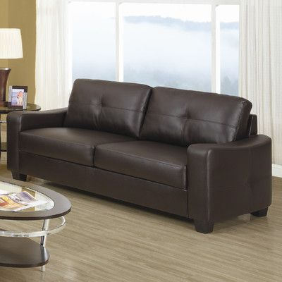 Well Liked Hugo Chenille Upholstered Storage Sectional Futon Sofas In Wildon Home ® Oakwood Leather Sofa (View 3 of 10)