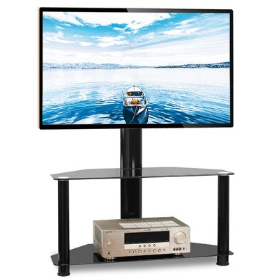Well Liked Symple Stuff Dicus Symple Stuff Black Swivel Floor Stand Intended For Randal Symple Stuff Black Swivel Floor Tv Stands With Shelving (View 1 of 10)