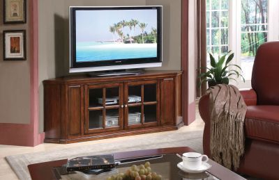 Well Liked This Elegant Corner Tv Stand Offers Two Doors With A Glass Regarding Simple Open Storage Shelf Corner Tv Stands (View 4 of 10)