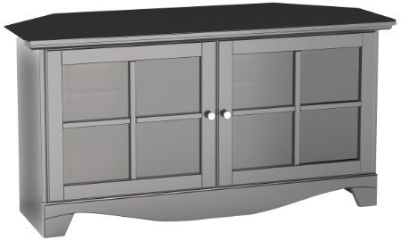 Widely Used Amazon – Nexera 102506 Pinnacle Corner Tv Stand, 49 Throughout Modern 2 Glass Door Corner Tv Stands (View 9 of 10)