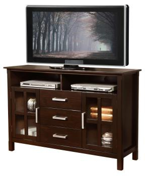 Widely Used Amazon: Simpli Home Kitchener Tall Tv Media Stand For Regarding Space Saving Gaming Storage Tv Stands (View 6 of 10)